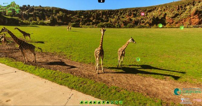 Portada de la visita virtual al Parque de la Naturaleza de Cabárceno