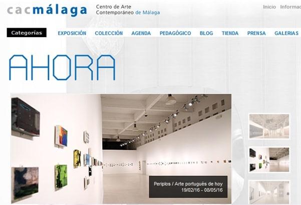 Web del Centro de Arte Contemporáneo de Málaga