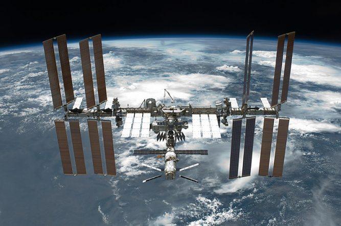 Fotografía de la estación espacial internacional ISS