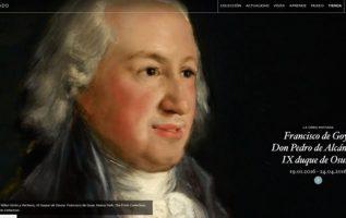 Portada de la web del Museo del Prado